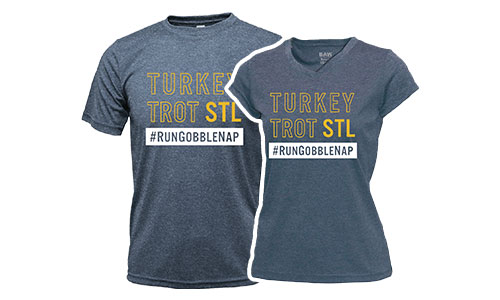 Turkey Trot STL Wicking Tees
